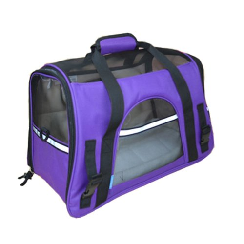 Pet Carrier Soft Sided Travel Bag for Small dogs & cats- Airline Approved, Purple