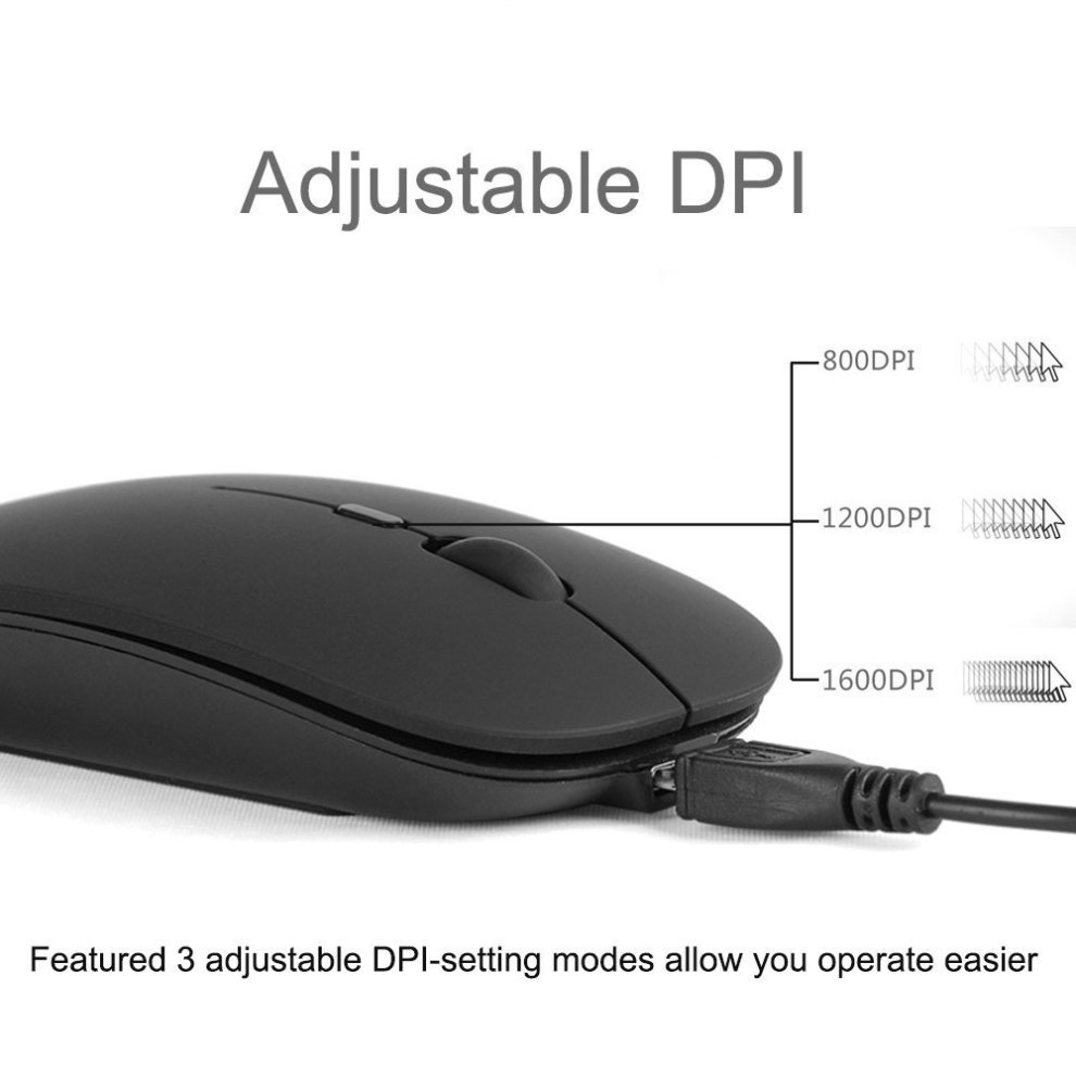 f21809a37b2 ... Bluetooth Mouse, Veeki Portable Ultra Thin Noiseless Wireless Bluetooth  Optical Mouse Built-in 400 ...