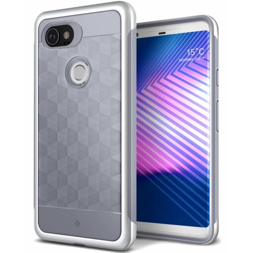 quality design 0730c 42936 Caseology Google Pixel 2 XL Case, [Parallax Series] Slim Protective Dual  Layer Cover Geometric Design for Google Pixel 2 XL (2017) - Ocean Gray