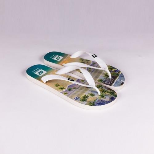 Hydroponic Highland flip flops white