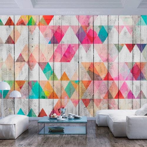 Wallpaper - Rainbow Triangles