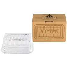 Tala Butter Glass Dish, Clear - Dish Originals Classic Lid Cover Retro Style -  tala glass butter dish clear originals classic lid cover retro style
