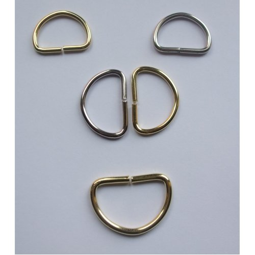 Pack of 10 D-Rings  - Ideal for handbags etc. Choice of colour & Size