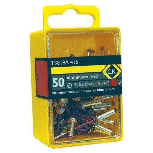 CK T3819A 615 Pop Rivets Aluminium 4.8x12mm Box Of 40