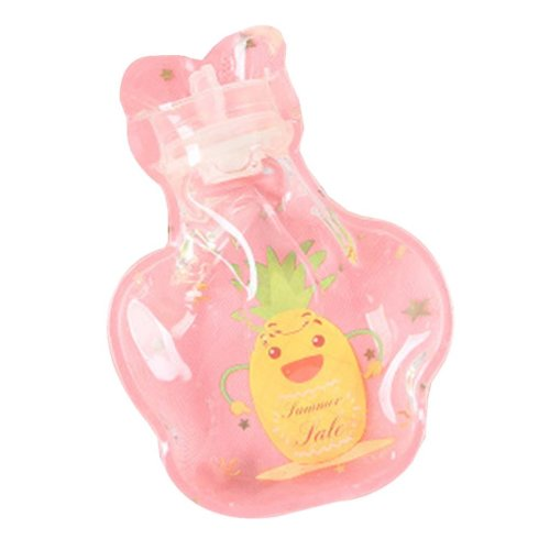 [Pineapple] 2 Pcs Small Lovely Hot Water Bottle Mini Transparent Hot Water bag