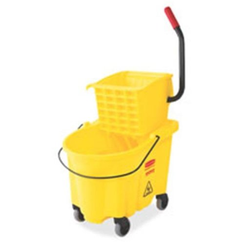Wave Brake Side Press Mop Bucket, Yellow