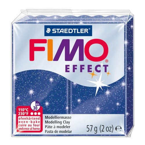Fimo Effect Modelling Clay, Blue Glimmer, 57 g
