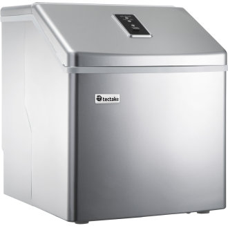 Ice maker for clear ice cubes - silver