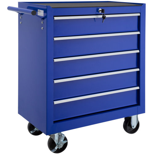 Tool chest with 5 drawers blue