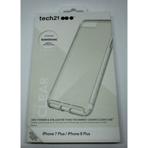 Tech21 Pure Clear for Apple iPhone 7 Plus / iPhone 8 Plus - Clear
