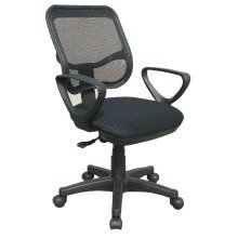Dale Medium Back Black Mesh Chair by Eliza Tinsley BCM/W228/BK