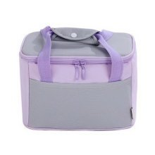 Newly-made Lovely Bag Lunch Tote Bag Fashion Simple Insulated Bento Bag(Purple)