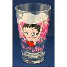 Betty Boop 1/2 Pint All About Me Glass