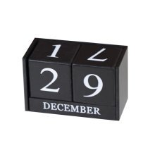 Wooden Permanent Calendar Creative Calendar Decoration For Home / Office -A16