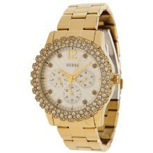 GUESS Gold-Tone Shimmering Ladies Watch U0335L2