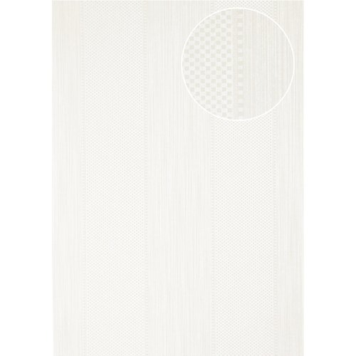 Atlas PRI-556-4 Stripes wallpaper glittering oyster-white 5.33 sqm