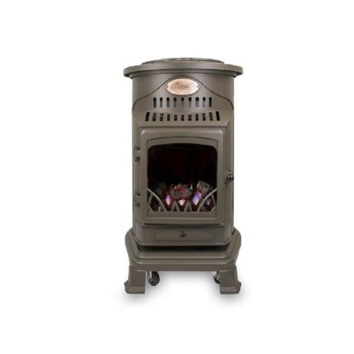 Calor Gas Provence 3kw Honey Brown Portable Living Flame Heater