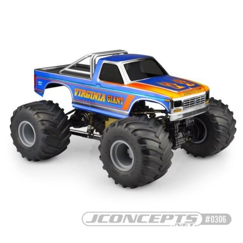 JConcepts JCO0306 1984 Ford F-250 MT Scale Body for Custom 1-10 Scale Monster