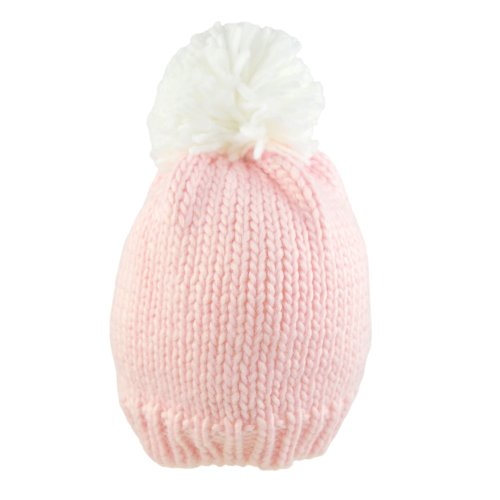 dc0fecab3c2 Winter Baby Girls Pom Pom Beanie Bobble Hat on OnBuy