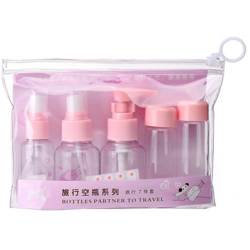 Empty Plastic Bottles Cosmetic Bottles Travel Bottles/7-Piece