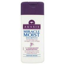 Aussie Shampoo Miracle Moist Dry Damaged Hair Smoothen Macadamia Nut Oil 75ml