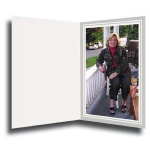 Cardboard Photo Folder for a 8x10 Photo Pack 0f 50 ght Gray