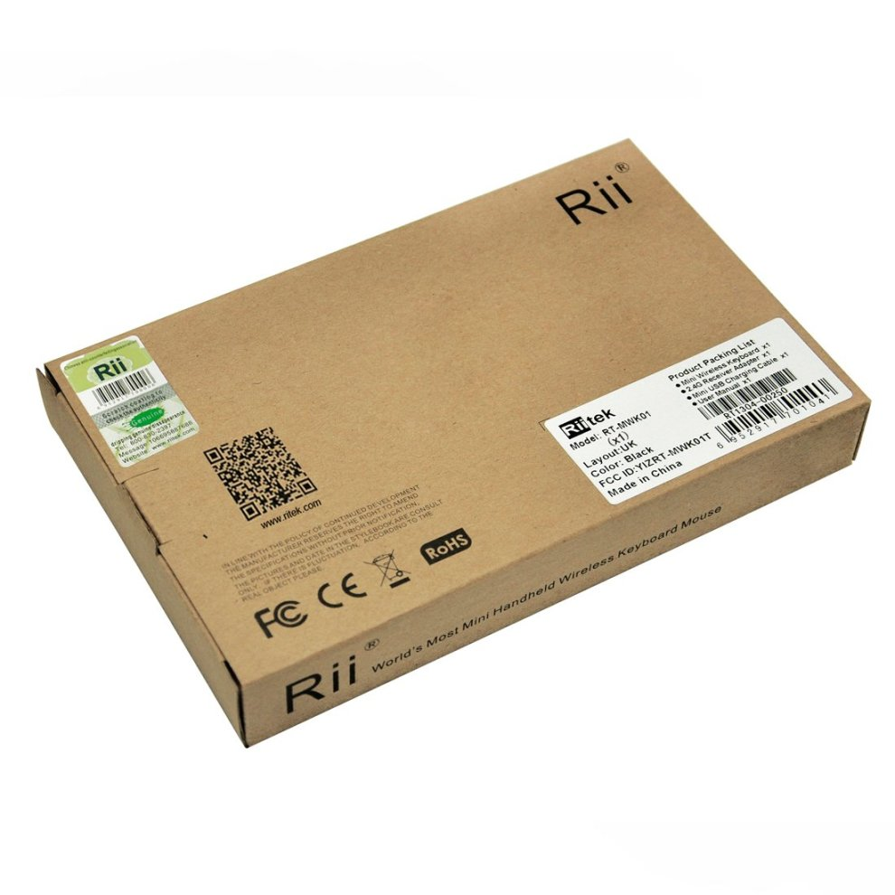 Rii K01X1 2 4 GHz Mini Wireless Keyboard with Mouse Touchpad Remote Control