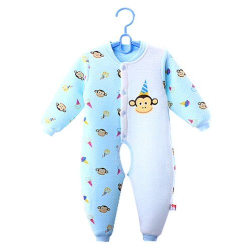 Baby Suit Clothing Long-Sleeved Cotton Baby Crawl Sports Open Fork Cotton C