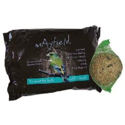 Mayfield Fat Balls With Insects 4pk Poly 88g (Pack of 6)
