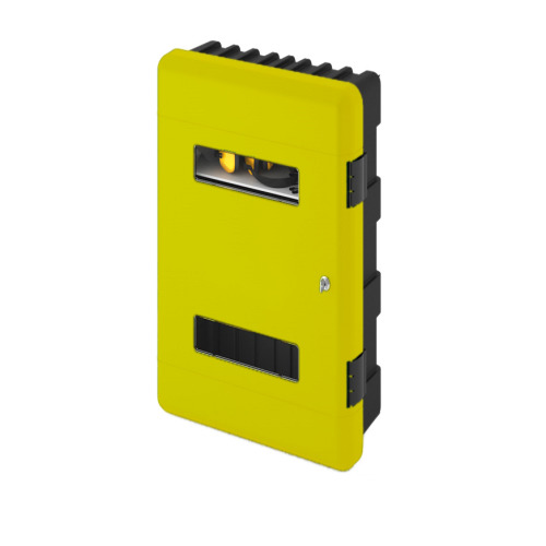 Commander Double Extinguisher Cabinet ? Yellow