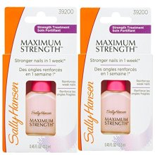 Sally Hansen Maximum Strength Nail Hardener Light Pink - Pack of 2