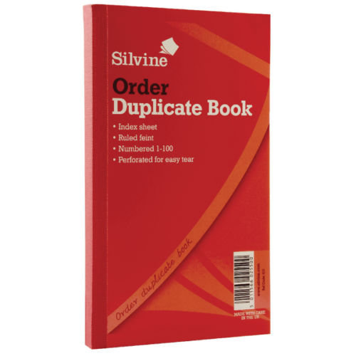 Silvine Duplicate Order Book Feint 200 Sheets Large - Pack Of 6 - 610 825x5 -  silvine order book duplicate 610 pack 825x5 inches