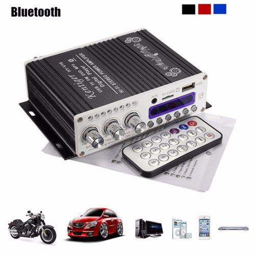 Elegiant Amplificatore stereo Mini Bluetooth, 12V Hi-Fi Mini Bluetooth Auto MP3 Amplificatore audio stereo AMP Scooter Booster Radio MP3...