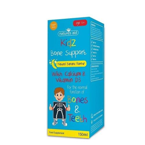 Natures Aid Kidz Bone Support Banana Liquid 150ml 6+ Years
