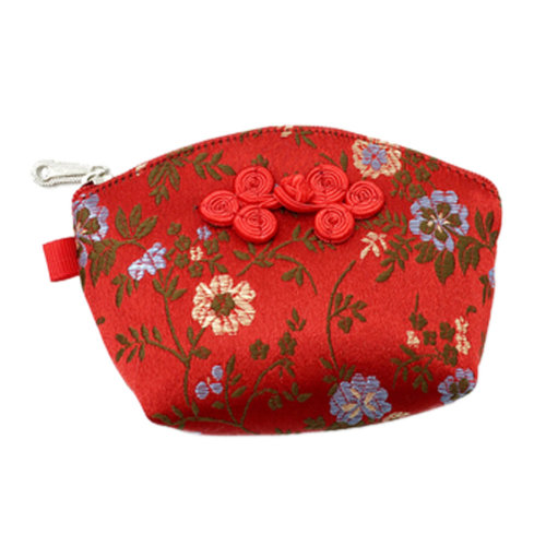 Set of 2 Traditonal Chinese Embroidered Jewelry Coin Pouch Bag Wallet Purses   F
