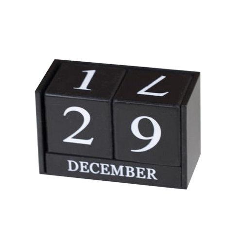 Wooden Permanent Calendar Creative Calendar Decoration For Home / Office -A16
