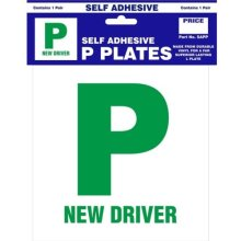 Self Adhesive P Plate - Pair New Plates Castle Sap Driver Promotions -  p self adhesive pair new plates castle sapp driver promotions