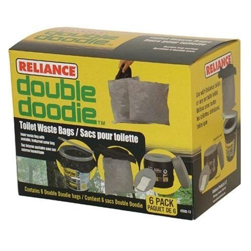 4004462 Reliance Double Doodie Toilet Waste Bag 6 Pack
