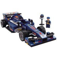 Sluban M38-b0353 F1 Racing Car (blue) - Blue Formula F2 Building Set -  racing sluban f1 car blue formula f2 building set