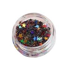 5 Boxes Makeup Glitter Sequins Shining Nail Art Sequins Face Glitter, Star