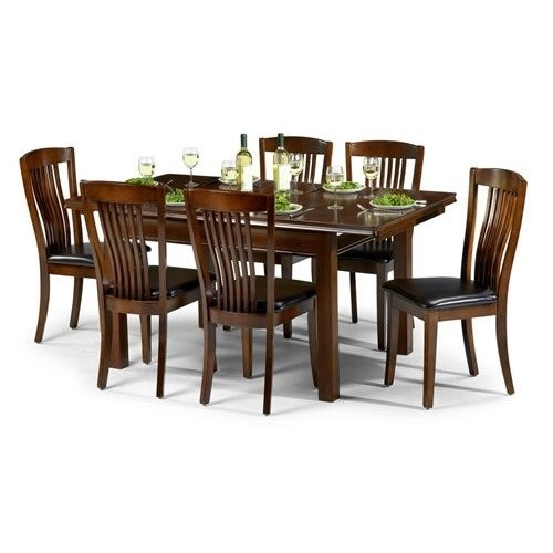 Cayton Dining Set Mahogany Finish - Fully Assembled Chairs