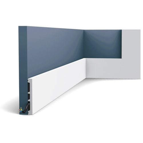 Orac Decor SX163F AXXENT SQUARE Skirting flexible baseboard moulding 2 m