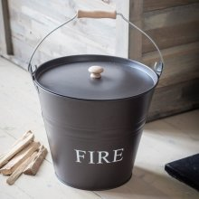 Bucket for Fireside - Coffee Bean Colour