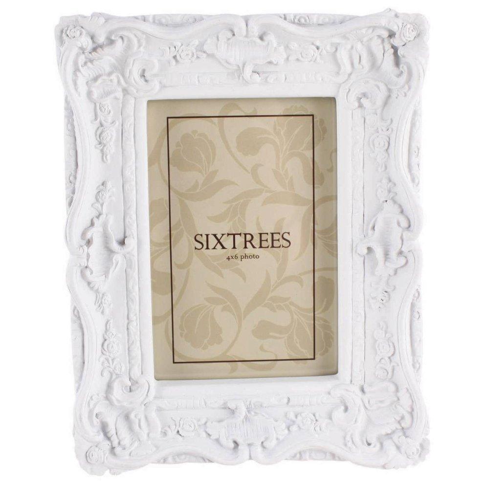 Sixtrees Chelsea 4 x 6 Photo Frame | White Shabby Chic Photo Frame ...