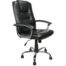 Eliza Tinsley Westminster - High Back Leather Faced Executive Armchair with Chrome Base Black