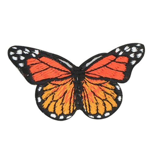 6PCS Embroidered Fabric Patches Sticker Iron Sew On Applique [Butterfly E]