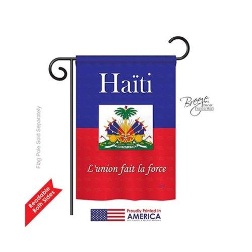 Breeze Decor 58167 Haiti 2-Sided Impression Garden Flag - 13 x 18.5 in.