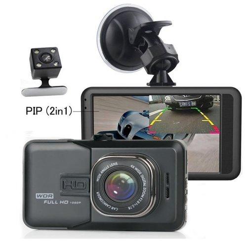 Camecho Dual Lens Car DVR Camera 1080P Full HD Video Recorder 1080P