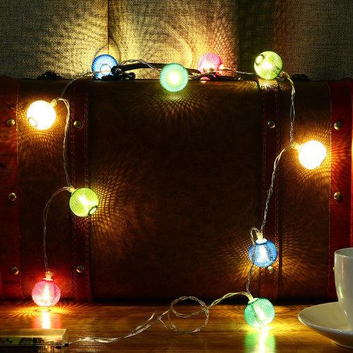2M 20 LED Metal Lantern String Lights