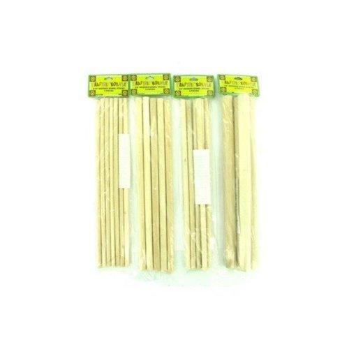 Kole Imports CC035-48 Wooden Dowel Craft Sticks - Pack of 48